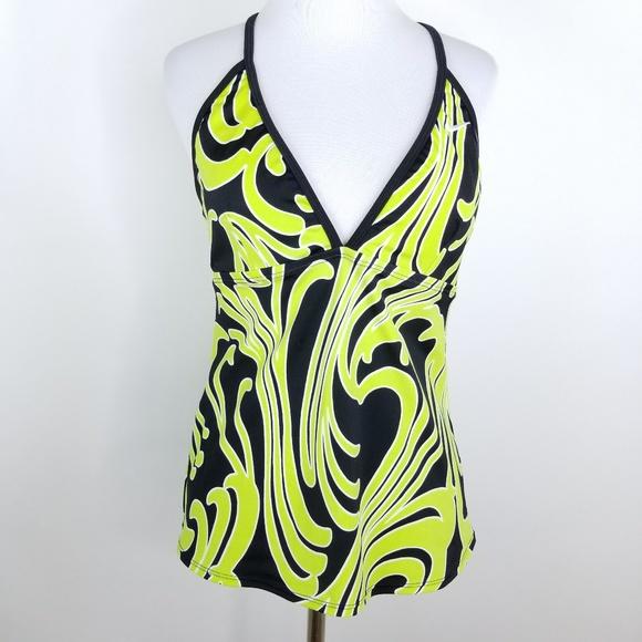 91a36e57eeaf0 Nike Swirl Tankini Halter Swim Top Size 12. M 5afb758205f4305dd1a2e27d